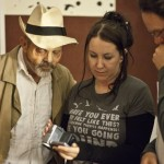 Keith Allen watches Nighvision rushes with Dir. Craig Griffith